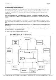 Kategorien und der Politikzyklus von
