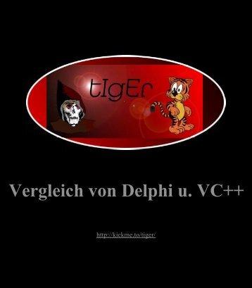 Vergleich von Delphi und Visual C++ - Inhalt