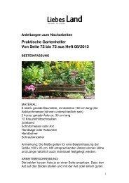 Anleitungen Gartenhelfer - Liebes Land