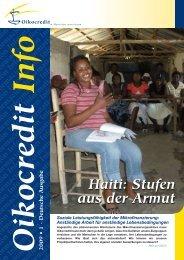 Ausgabe 1, 2009 - Oikocredit