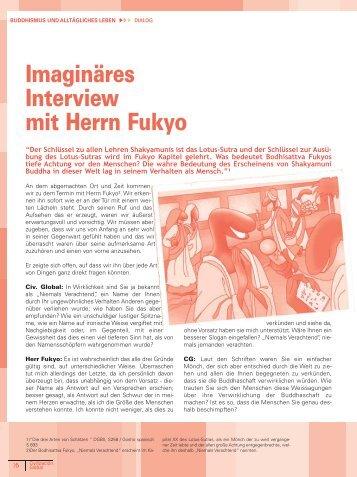 Imaginäres Interview mit Herrn Fukyo