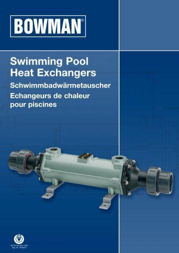 Gri 181 desjoyaux pools usa - Bowman heat exchangers for swimming pools ...