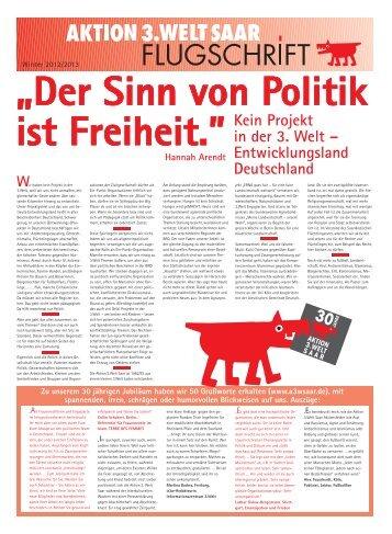 """""""Kein Projekt in der 3.Welt – Entwicklungsland Deutschland"""" als ..."""