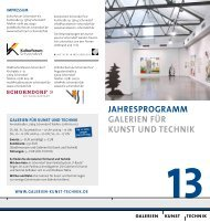 Galerien für Kunst und Technik - Kunstverein Schorndorf