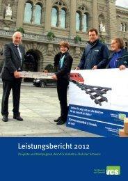 Leistungsbericht 2012 - VCS Verkehrs-Club der Schweiz
