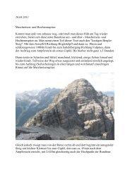 Bergtouren 2011 - Bergsteigen hinter'm Haus