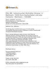 POL-ME: Verkehrsunfall Wülfrather Strasse, in Mettmann ... - Firmendb
