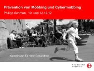 Mobbing - Definition - Schule Aare-Oenz