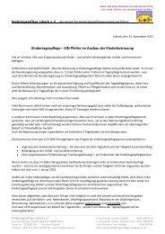 Kindertagespflege – EIN Pfeiler im Ausbau der ... - Laufstall