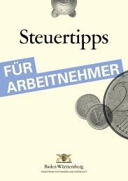 Steuerratgeber für Arbeitnehmer - Baden-Württemberg