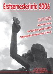 1. Allgemeiner Teil Erstsemesterinfo 2006 - Fachschaft Maschinenbau