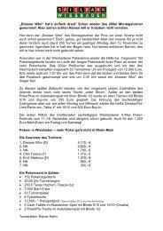 Montagsturnier vom 12.11.2012 - Spielbank Wiesbaden