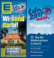 Programm - 31. Tag der Niedersachsen in Aurich, Ostfriesland ...
