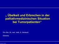 """"""" Übelkeit und Erbrechen in der palliativmedizinischen Situation bei ..."""