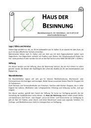 HAUS DER BESINNUNG - Seminare und Vorträge mit Alfred Weil