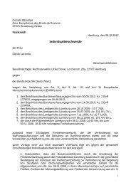 Klage vor dem Europäischen Gerichtshof für ... - Cécile Lecomte