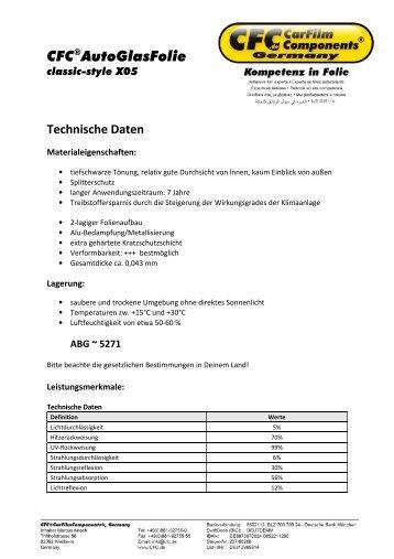 CFC®AutoGlasFolie - CFC CarFilmComponents