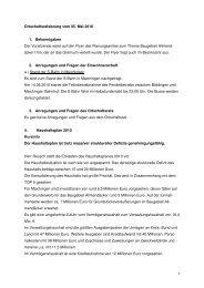 Ortschaftsratssitzung vom 05.05.2010 - bei der Stadt Sindelfingen