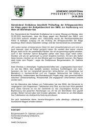 Pressemitteilung der Gemeinde Großpösna vom 24. Juni 2009