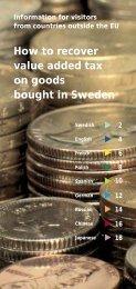 How to recover value added tax on goods bought in ... - Skatteverket