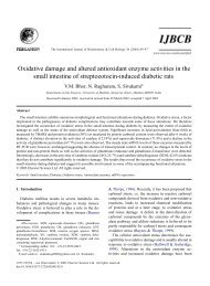 Oxidative damage and altered antioxidant enzyme activities in the ...