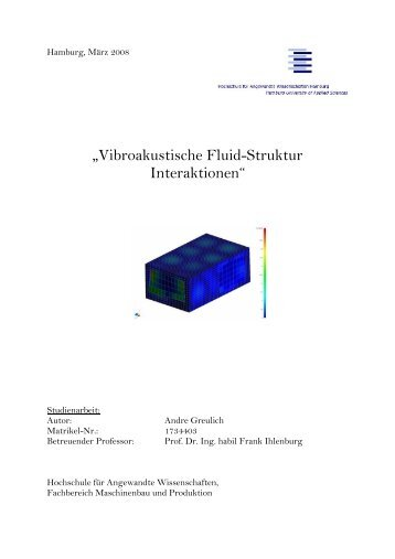 """Vibroakustische Fluid-Struktur Interaktionen"" - Department ..."