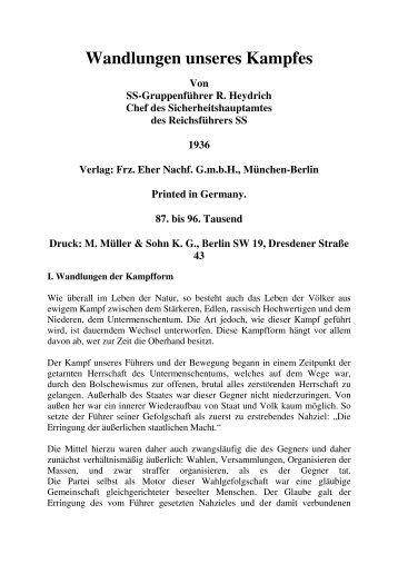 Wandlungen unseres Kampfes 1936 - thule-italia.net