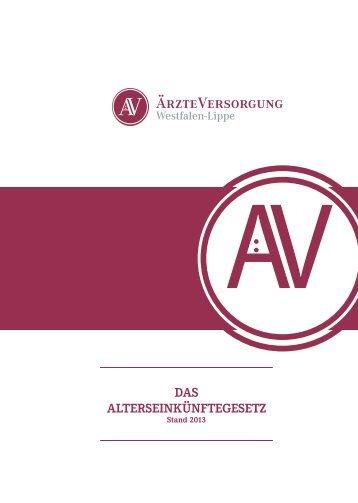 DAS AlterSeinkünftegeSetz - Ärzteversorgung Westfalen-Lippe
