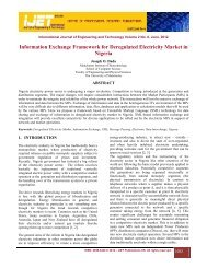 Information Exchange Framework for Deregulated Electricity Market ...
