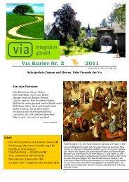 VIA Kurier Nr. 2/2011 März - VIA Integration gGmbH
