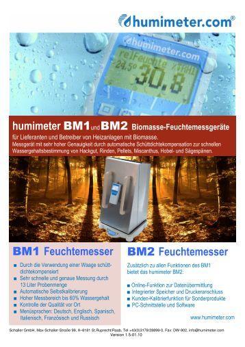 PDF-Prospekt humimeter BM2 - Messtechnik Schaller GmbH