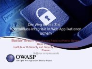 Weg ist das Ziel Kontrollfluss-Integritaet in Web ... - owasp