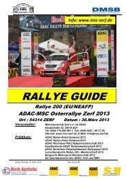 Rallye Guide - MSC Zerf e.V.