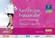 Raiffeisen Frauenlauf - Birgit Morelli