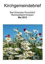 Kirchgemeindebrief Mai 2012 - Evangelisch-Lutherische Kirche Bad ...