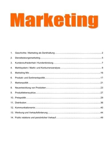 1. Geschichte / Marketing als Denkhaltung ...
