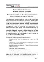 Förderung innovativer Pilotprojekte - TMG