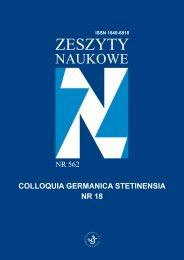 Colloquia Germanica Stetinensia Nr 18