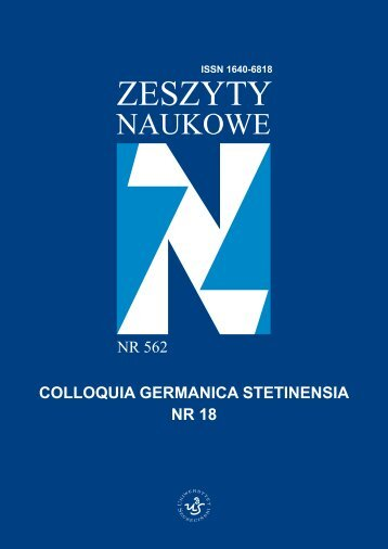 Colloquia Germanica Stetinensia Nr 18