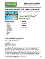 Ferienwohnung für 4 Personen in Marina di ... - Outdoor-Touristik