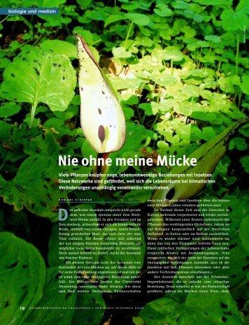 Nie ohne meine Mücke - Schweizerischer Nationalfonds (SNF)