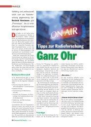 Ganz Ohr. Tipps zur Radioforschung - TNS Emnid