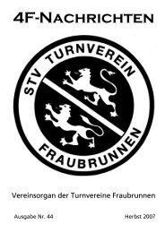 4F-Nachrichten November 2007 - Turnverein Fraubrunnen