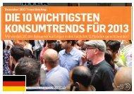 DIE 10 WICHTIGSTEN KONSUMTRENDS 2013 als ... - Trendwatching