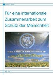 Für eine internationale Zusammenarbeit zum Schutz der Menschheit