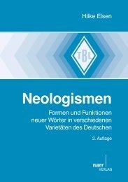 Neologismen - im Shop von Narr Francke Attempto