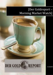 [Der Goldreport – Morning Market Watch] - Alcyone Resources