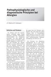 Pathophysiologische und diagnostische Prinzipien bei Allergien