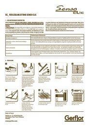 Verlegeanleitung Gerflor Senso Clic Vinyl Laminat ... - allfloors