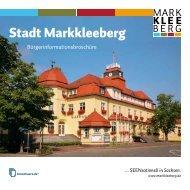 Bürgerinformationsbroschüre - Stadt Markkleeberg